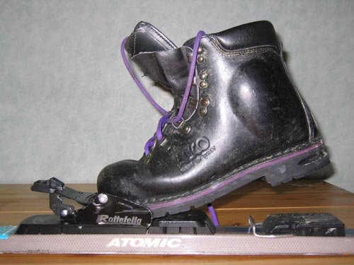 leatherboot & 3pin binding
